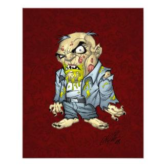 Cartoon Zombie Business Man Art by Al Rio Flyer