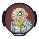 Cartoon Zombie Business Man Art by Al Rio LED Car Decal