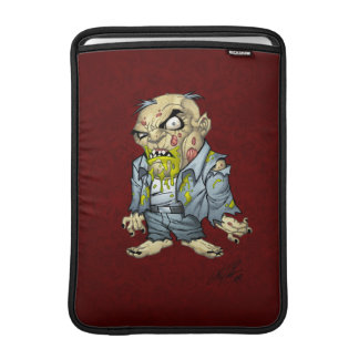 Cartoon Zombie Business Man Art by Al Rio Sleeve For MacBook Air
