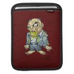 Cartoon Zombie Business Man Art by Al Rio iPad Sleeves