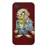 Cartoon Zombie Business Man Art by Al Rio Cases For iPhone 4