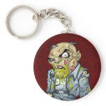 Cartoon Zombie Business Man Art by Al Rio Key Chains