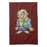 Cartoon Zombie Business Man Art by Al Rio Kitchen Towels