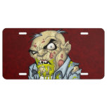 Cartoon Zombie Business Man Art by Al Rio License Plate