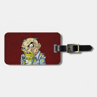 Cartoon Zombie Business Man Art by Al Rio Tag For Luggage