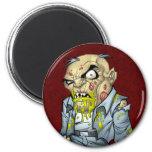 Cartoon Zombie Business Man Art by Al Rio Fridge Magnets