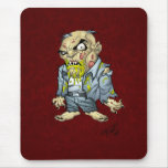 Cartoon Zombie Business Man Art by Al Rio Mouse Pad