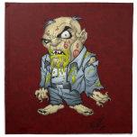 Cartoon Zombie Business Man Art by Al Rio Napkin