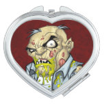Cartoon Zombie Business Man Art by Al Rio Makeup Mirrors