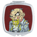 Cartoon Zombie Business Man Art by Al Rio Mirror For Makeup