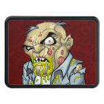 Cartoon Zombie Business Man Art by Al Rio Tow Hitch Cover