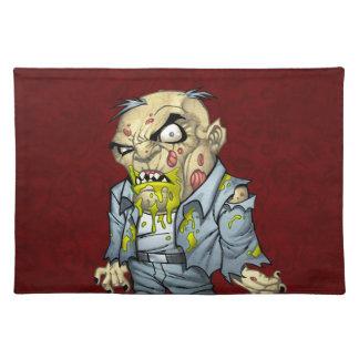 Cartoon Zombie Business Man Art by Al Rio Place Mat
