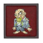 Cartoon Zombie Business Man Art by Al Rio Premium Trinket Box