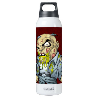 Cartoon Zombie Business Man Art by Al Rio SIGG Thermo 0.5L Insulated Bottle
