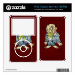 Cartoon Zombie Business Man Art by Al Rio iPod Classic Decals