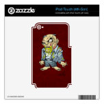 Cartoon Zombie Business Man Art by Al Rio iPod Touch 4G Skins
