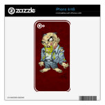 Cartoon Zombie Business Man Art by Al Rio iPhone 4S Decal