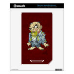 Cartoon Zombie Business Man Art by Al Rio Decal For NOOK Color