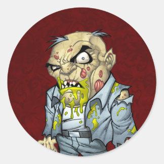 Cartoon Zombie Business Man Art by Al Rio Stickers