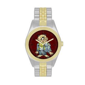 Cartoon Zombie Business Man Art by Al Rio Wristwatch