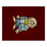 Cartoon Zombie Business Man Art by Al Rio Perfect Poster