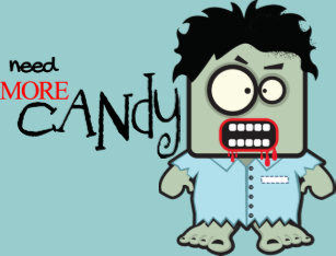 Cartoon Zombie Jelly Belly Candy Tin