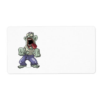 Cartoon Zombie Label