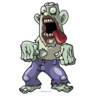 Cartoon Zombie Photo Cut Outs