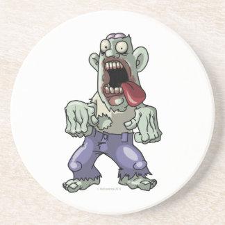Cartoon Zombie Sandstone Coaster