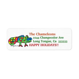 CartoonChameleon Address Label Stickers