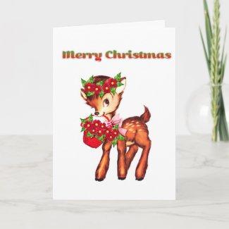 Cartooned Christmas Deer Card