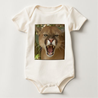 Cartooned Cougar Baby Bodysuit