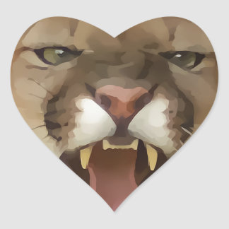 Cartooned Cougar Stickers