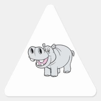 CartoonHippopotamus feliz Etiquetas