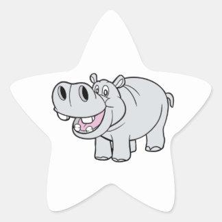 CartoonHippopotamus feliz Colcomania Cuadrada
