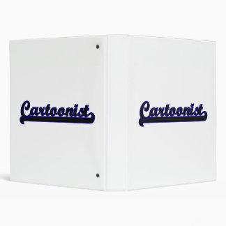 Cartoonist Classic Job Design Vinyl Binder