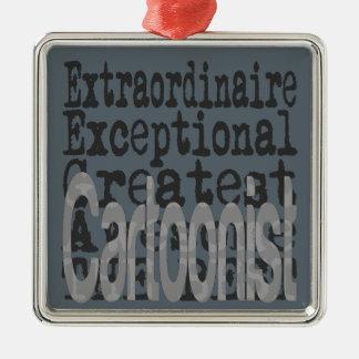 Cartoonist Extraordinaire Metal Ornament