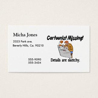 Cartoonist Missing Details Sketchy Business Card