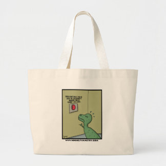 Cartoonists Making Fun of Short T-Rex Arms Large Tote Bag