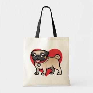 Cartoonize mi mascota bolsa tela barata