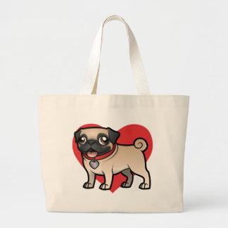 Cartoonize mi mascota bolsa tela grande
