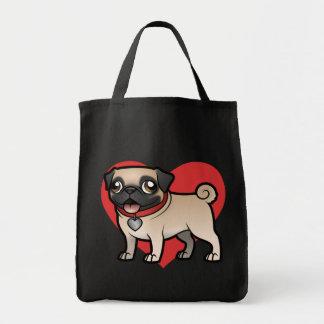 Cartoonize mi mascota bolsa tela para la compra