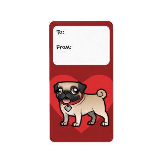 Cartoonize mi mascota etiqueta de dirección