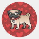 Cartoonize mi mascota etiquetas redondas