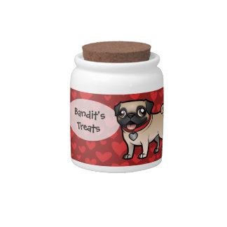 Cartoonize mi mascota jarras para caramelos