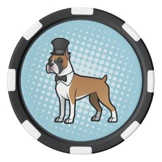 Cartoonize mi mascota juego de fichas de póquer