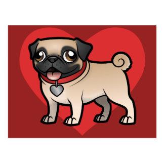 Cartoonize mi mascota tarjeta postal