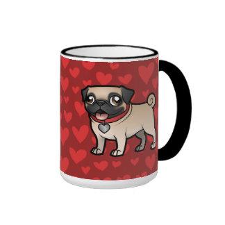 Cartoonize mi mascota taza de dos colores