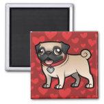 Cartoonize My Pet 2 Inch Square Magnet