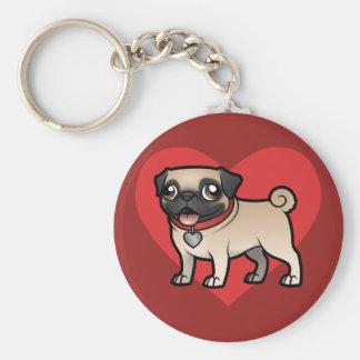 Cartoonize My Pet Basic Round Button Keychain
